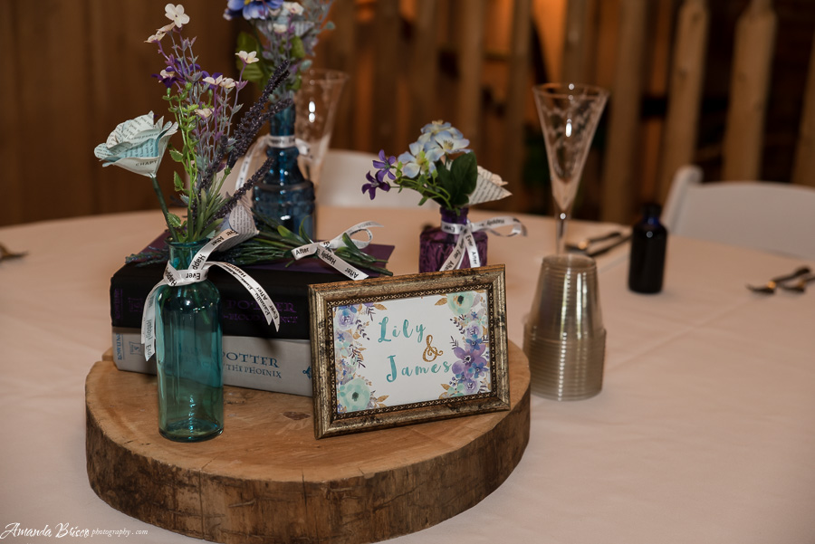 Book Couple Centerpieces | cookingalamel.com